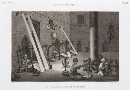 Weaver's workshop, Egypt, c 1798.