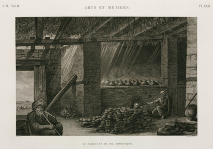 Making salt ammonia, Egypt, c 1798.