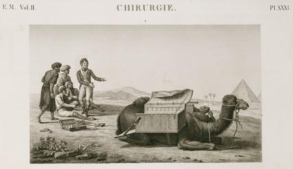Dr Larrey's camel ambulance, Egypt, c 1798.