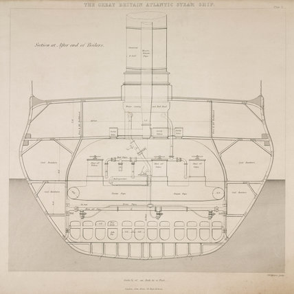 Boilers of Brunel's 'Great Britain', 1847.