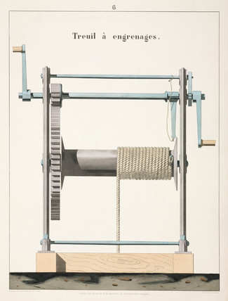 Geared winch, 1856.