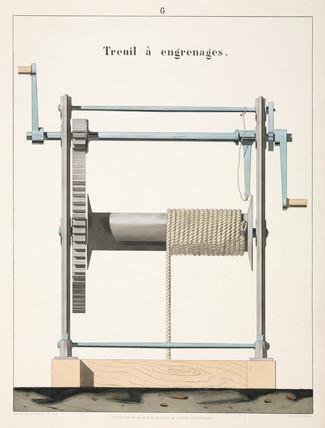 Geared winch, 1856.
