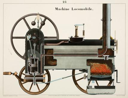Steam locomotive, 1856.