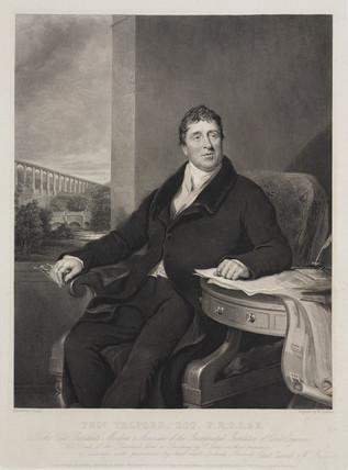 Thomas Telford, Scottish civil engineer, c 1810.