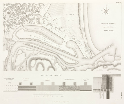Plan of Aberdeen Harbour, 1838.