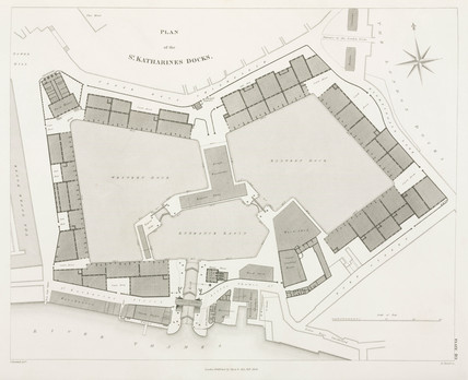 Plan of St Katharine's Docks, London, 1838.