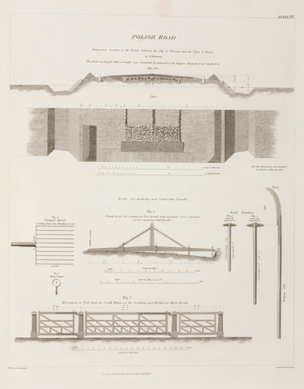 Roads and road-building tools, 1838.