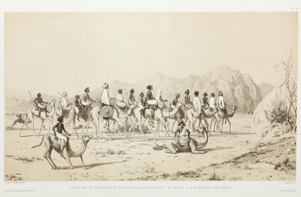 Procession of Bisharin and Ababda, Egypt, 1830-1831.