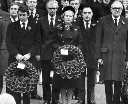 David Steel, Margaret Thatcher and James Callaghan, c 1976-1979.