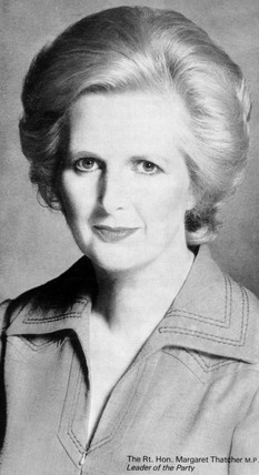 Margaret Thatcher, British politician, late 1970s.