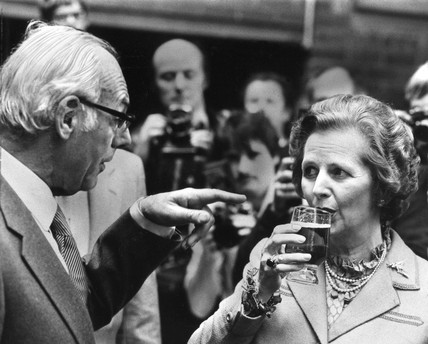 Margaret and Dennis Thatcher, c 1980s.