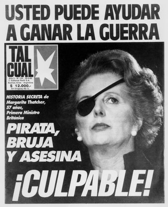 Margaret Thatcher portrayed as a pirate, 30 April 1982.