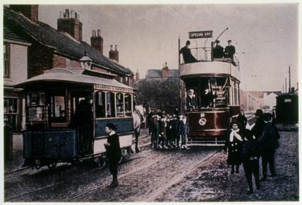 Chesterfield Horse Tram No 8, Derbyshire, 1897.