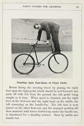 'Coasting upon Foot-rests of Front Forks', 1901.