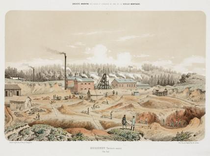 Zinc mine, Neutral Moresnet, 1855.