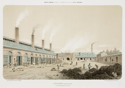 Zinc foundry, Neutral Moresnet, 1855.