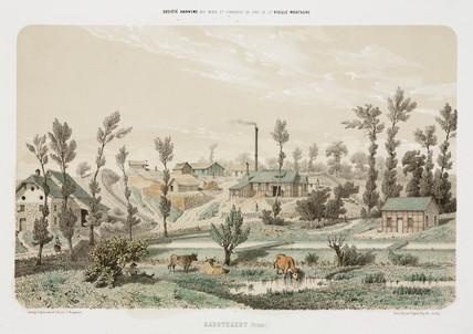 Zinc mine, Rabotraedt, Prusia, 1855.