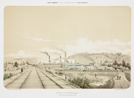Zinc works at Angleur, Belgium, 1855.