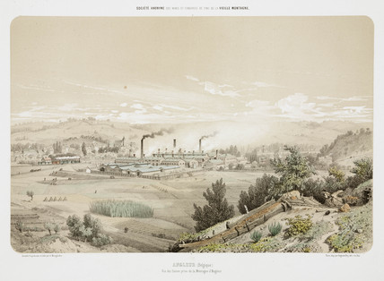 Zinc mine at Angleur, Belgium, 1855.