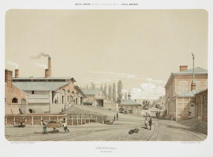 Zinc works at Angleur, Belgium, 1855.
