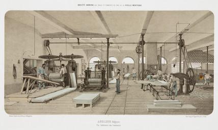 Zinc rolling-mill, Angleur, Belgium, 1855.
