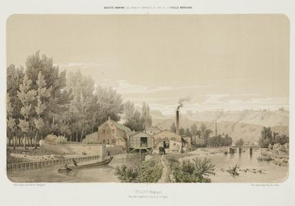 Zinc works, Tilff, Belgium, 1855.