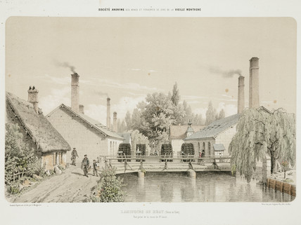 Rolling-mills at Bray, France, 1855.