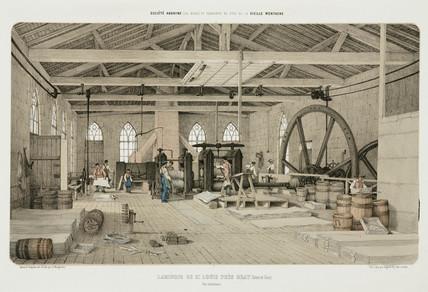 Zinc rolling-mill, St Louis, near Bray, France, 1855.