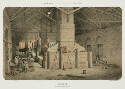 Silesian furnaces at Borbeck, Germany, 1855.