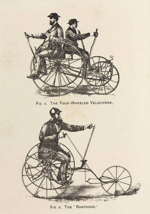 'The Four-Wheeled Velocipede' and the 'Rantoone', 1869.