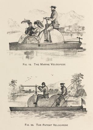 'The Marine Velocipede' and 'The Patent Velocipede', 1869.
