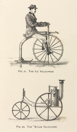 Print of an ice velocipede, 1869 (Science Museum / Science & Society)