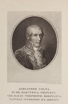 Alesandro Volta, Italian physicist and inventor, c 1820.