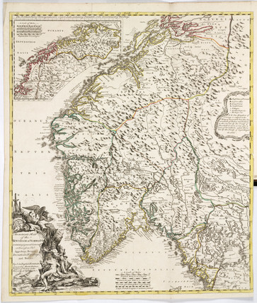 Map of Norway, 1755.