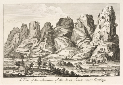 'A View of the Mountain of the Seven Sisters near Alstaboug', Norway, 1755.