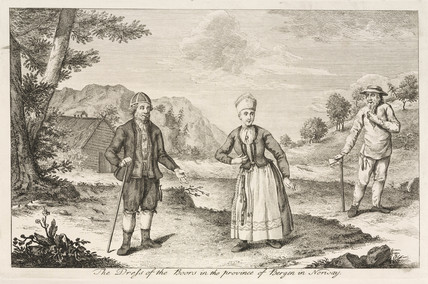 'The Dress of the Boors in the province of Bergen in Norway', 1755.