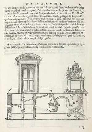 Temple doors opened by fire on an altar, 1589.