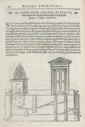 Opening Temple doors by fire on an altar, 1589.