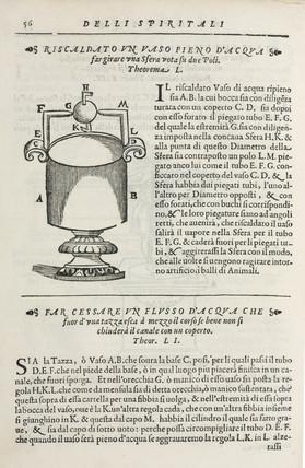 The steam engine, 1589.
