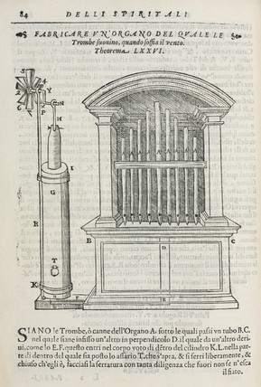 An altar organ blown by the agency of a windmill, 1589.