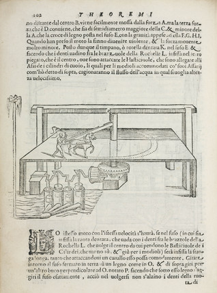 A horse-powered water pump, 1589.