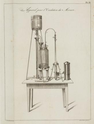 Apparatus for oxidising mercury, 1798.