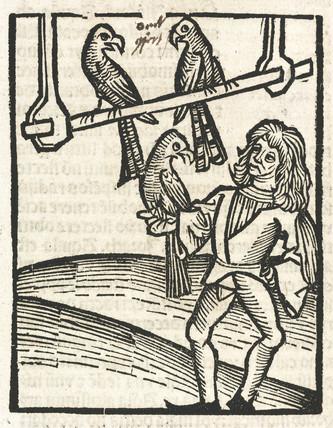 Falconer with goshawks, 1497.