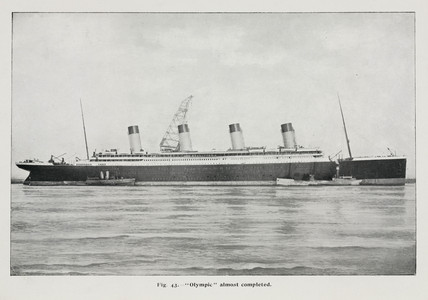 The Olympic soon after launch, c October 1910.