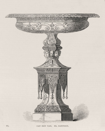 'Cast iron vase, Mr Handyside', 1851.