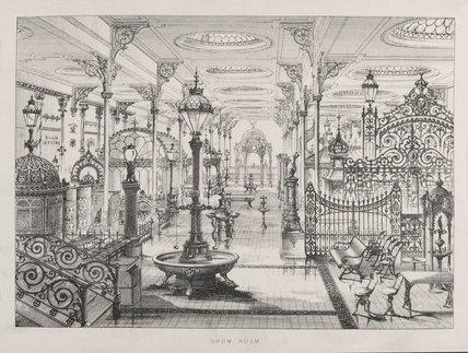Saracen Foundry, Walter Macfarlane and Company, Posilpark, Glasgow, c 1882.