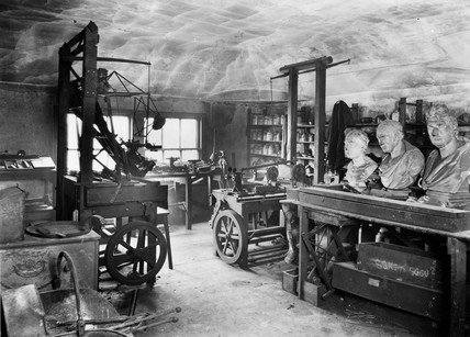 The workshop of Scottish engineer James Watt , 1924.