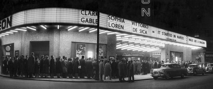 Queue outside the Odeon cinema, Manchester, 18 March 1961.