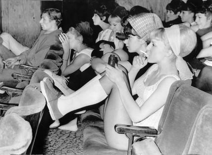Girls watching the singer Tony Bennett perform, 7 November 1965.