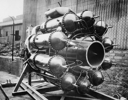 Whittle W1 jet propulsion engine at Lutterworth, Leicestershire, 1941.